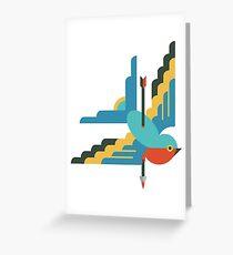 Flat design swallow Greeting Card