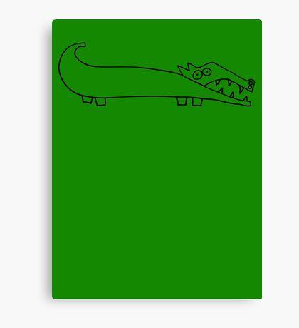 The croc (outline black) Canvas Print