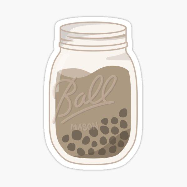 Bubble Tea Mason Jar Sticker