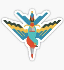 Flat design swallow and dagger Sticker