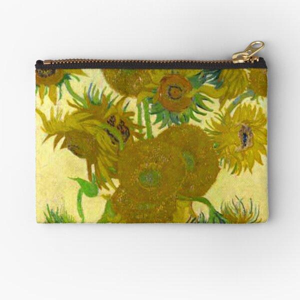 Van Gogh Sunflowers Zipper Pouch