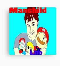 Manchild 4 Life Cartoony Version Canvas Print