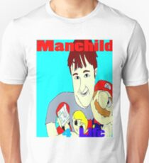 Manchild 4 Life Cartoony Version Unisex T-Shirt