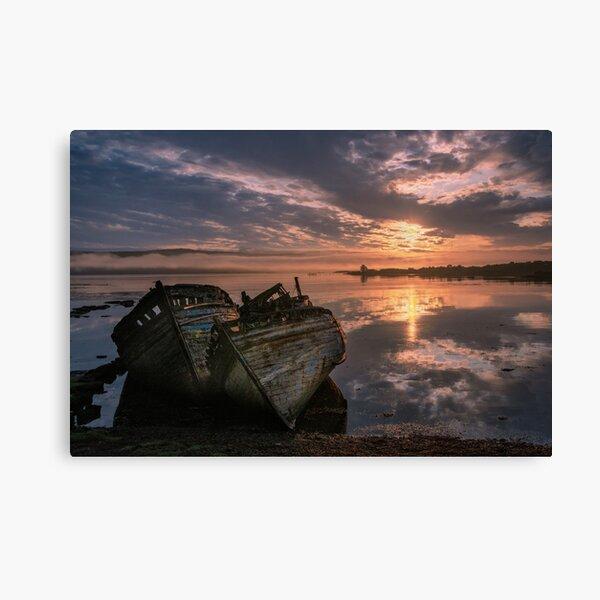 Salen Boats - Isle of Mull Canvas Print