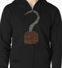 Captain Hook Once Upon A Time Typography Zipped Hoodie