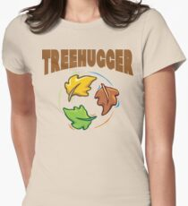 "Earth Day ""Treehugger"" Women's Fitted T-Shirt"