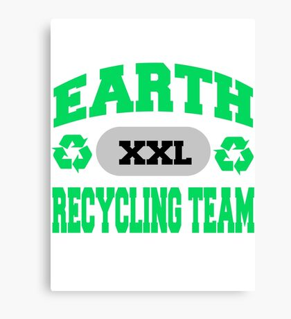 Earth Day Recycling Team Canvas Print