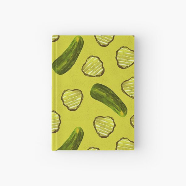 Sweet Pickle Slices Hardcover Journal