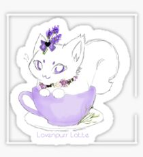 Lavenpurrr Latte Sticker