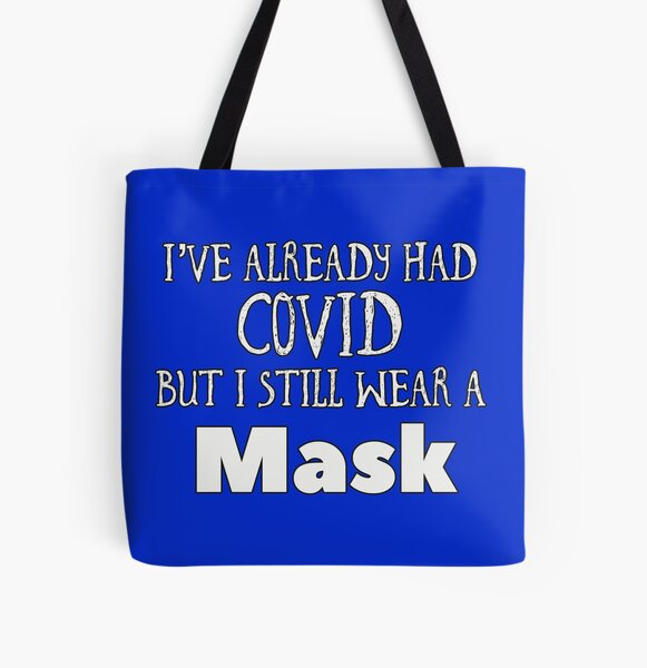 Covid Mask (blue) All Over Print Tote Bag