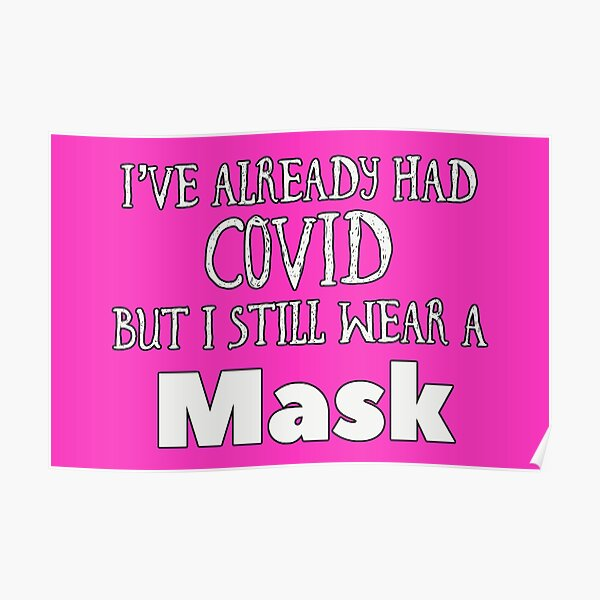 Covid Mask (pink) Poster