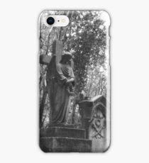 Highgate Cemetery Angel Cross iPhone Case/Skin
