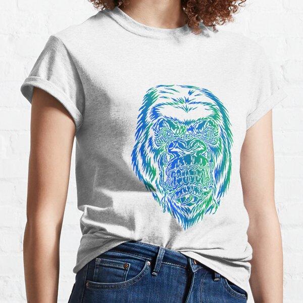 gorilla design in blue-green Classic T-Shirt