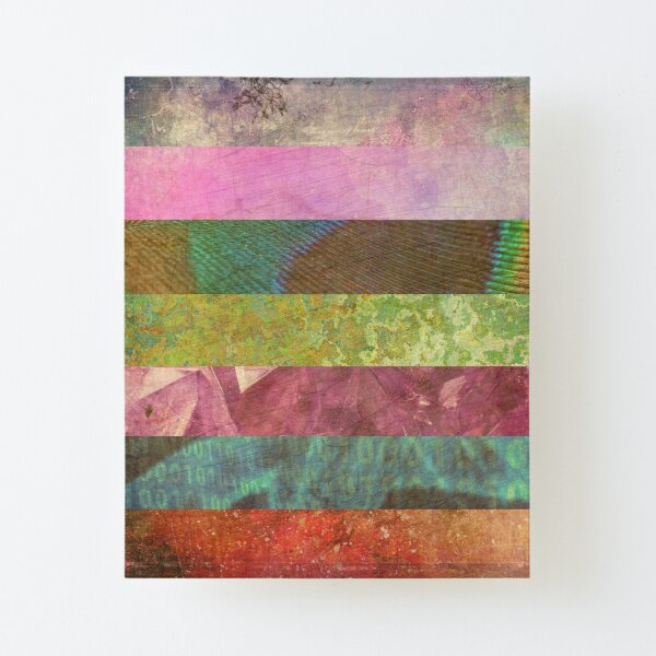 Colourful Patterned Stripes Canvas Mounted Print