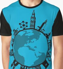 European City Attractions Graphic T-Shirt