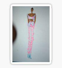 Black Woman Fashion Style Sticker
