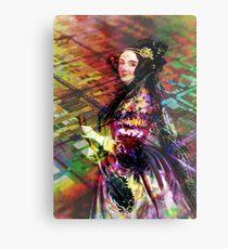 Ada Lovelace - Rainbow of Microchips Metal Print