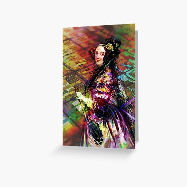 Ada Lovelace - Rainbow of Microchips Greeting Card