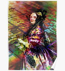 Ada Lovelace - Rainbow of Microchips Poster
