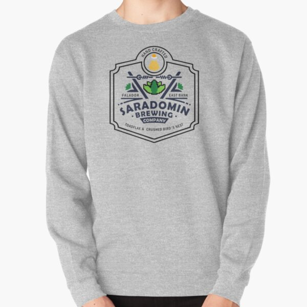 Saradomin Brewing Company OSRS herb flipped Pullover Sweatshirt