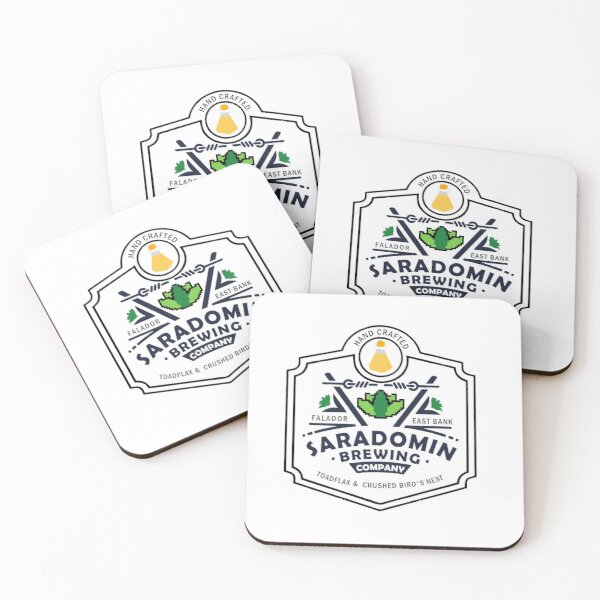 Saradomin Brewing Company OSRS herb flipped Coasters (Set of 4)