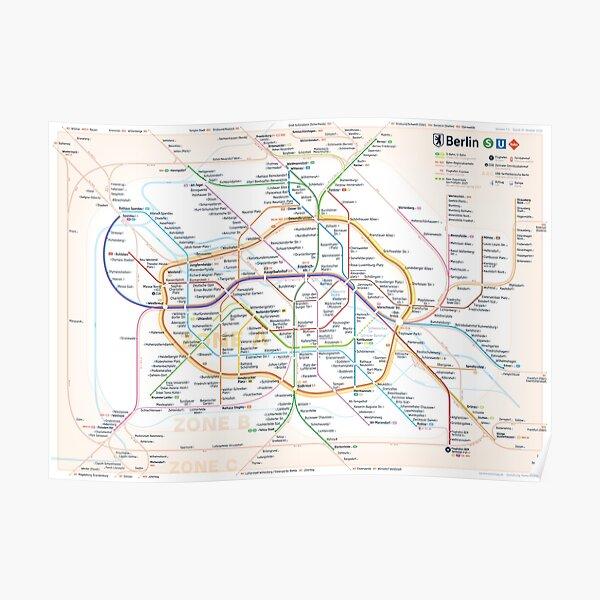 New Berlin Public Transport Map Poster