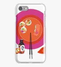 Sushi plate & chop sticks iPhone Case/Skin
