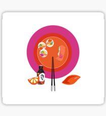 Sushi plate & chop sticks Sticker