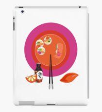 Sushi plate & chop sticks iPad Case/Skin