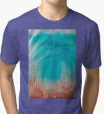Abstract colorful texture: blue & red Tri-blend T-Shirt