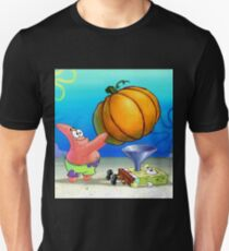 Sponge Bob Pumpkin Force Feeding Unisex T-Shirt