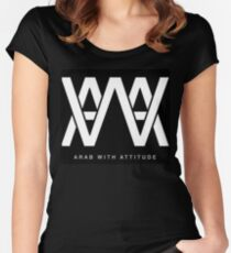 AWA - Arab With Attitude Women's Fitted Scoop T-Shirt
