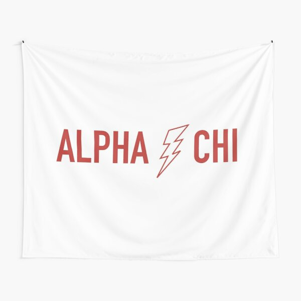 Alpha Chi Lightning Bolt Tapestry
