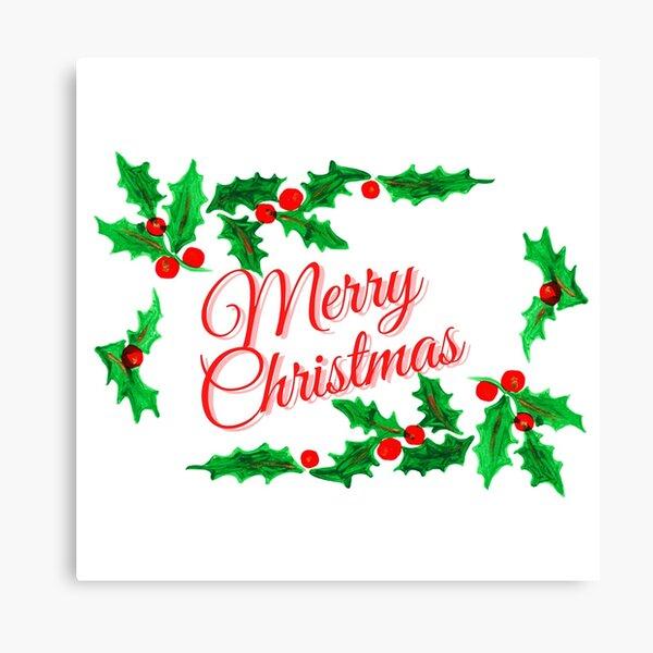 Merry Christmas Garland Canvas Print