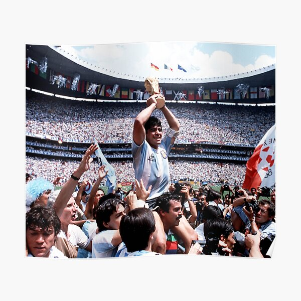 Repose en paix Diego Maradona Poster