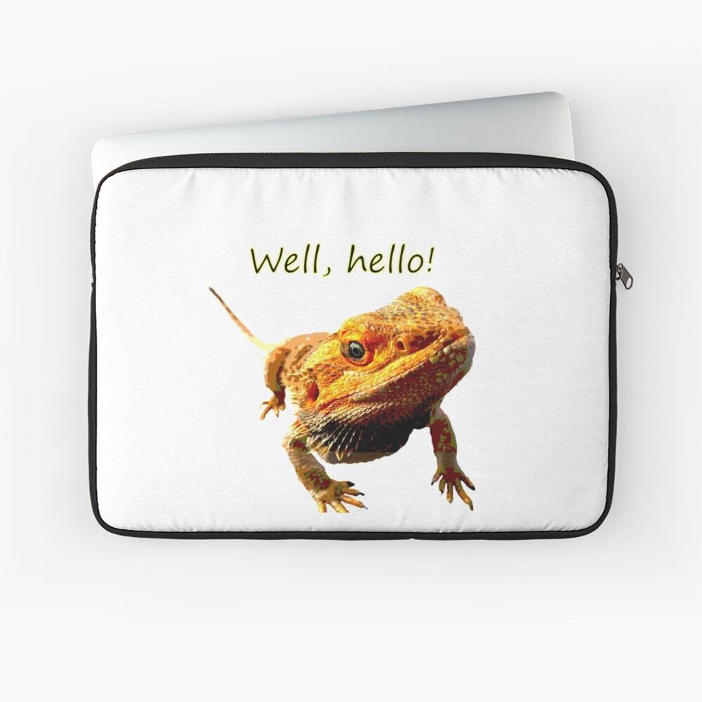 Bearded Dragon Says Hello Laptop Sleeve