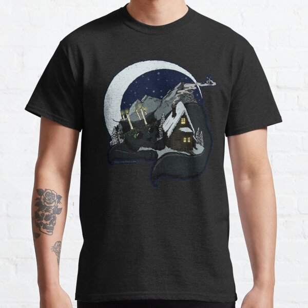 Yule Cat Jólakötturinn by The Zombified Classic T-Shirt