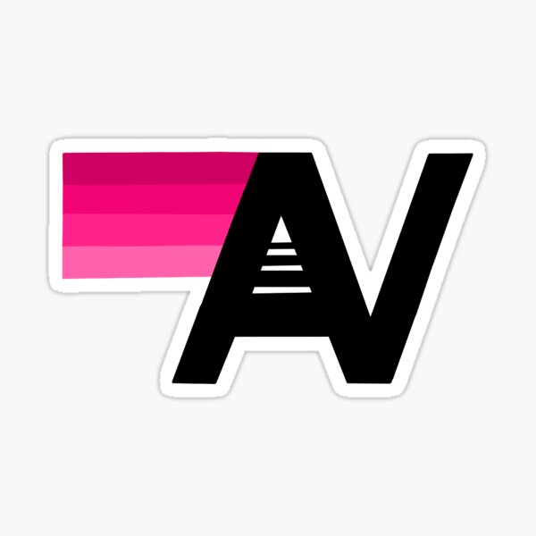 Pink aviator nation Sticker
