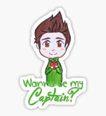"Nivanfield ""Wanna be my captain?"" ♥ Sticker"