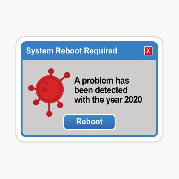 A problem has been detected with the year 2020 Sticker