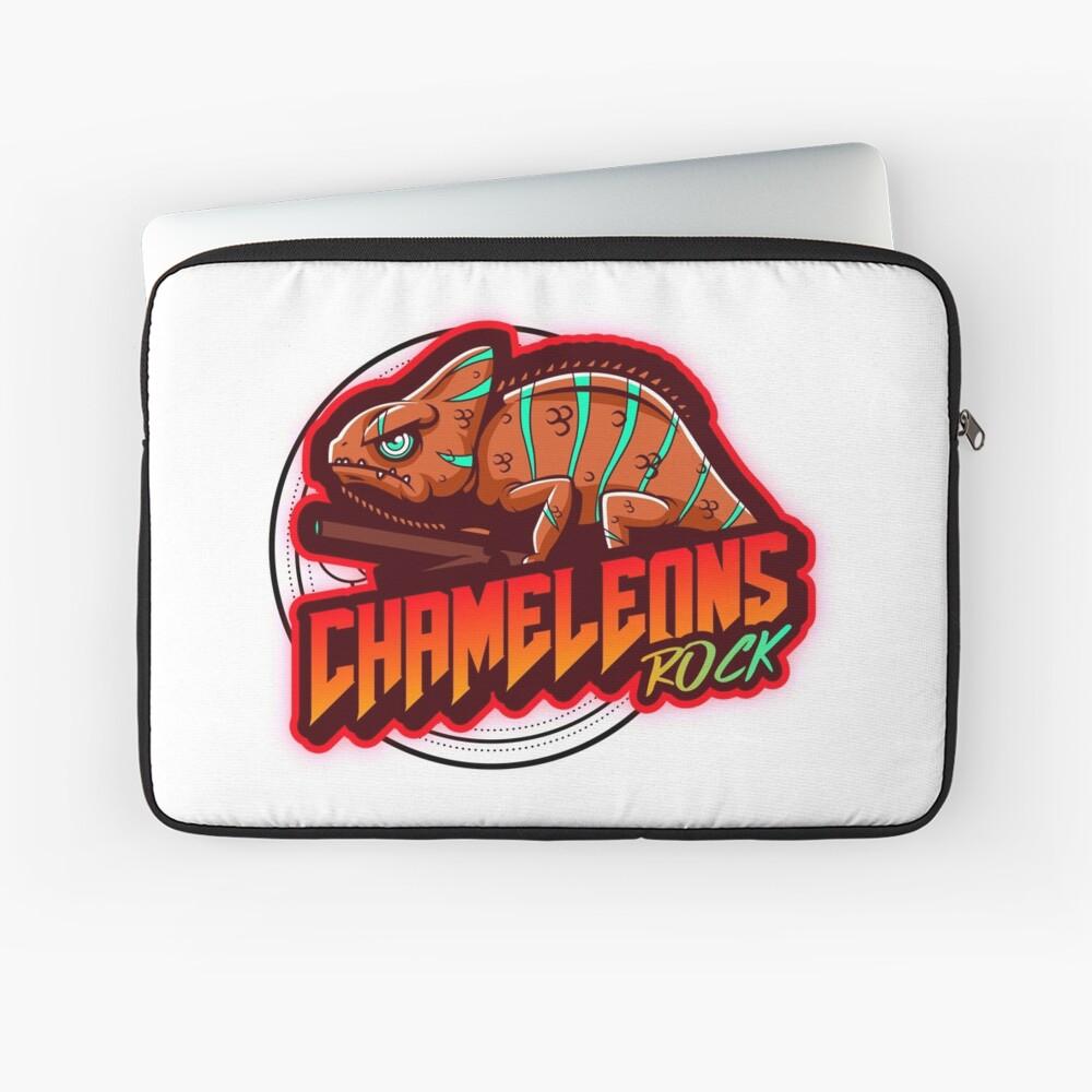 Chameleons Rock Colourful Bright Laptop Sleeve