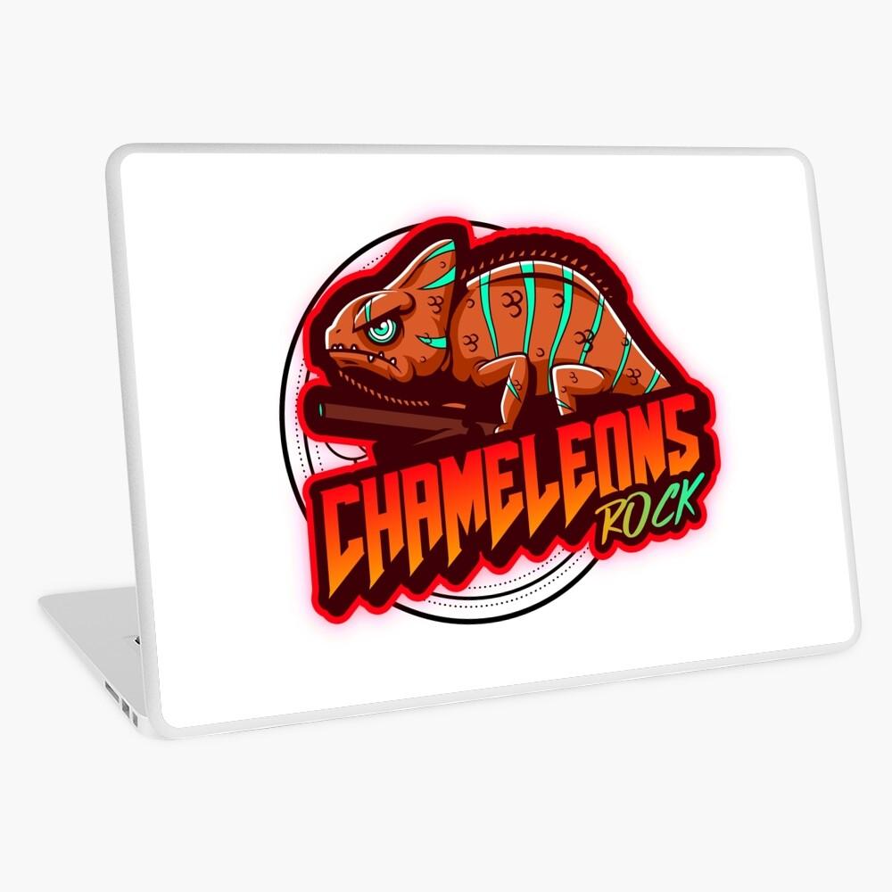 Chameleons Rock Colourful Bright Laptop Skin