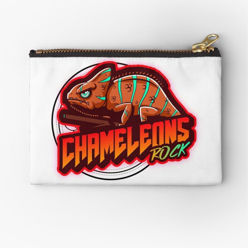 Chameleons Rock Colourful Bright Zipper Pouch