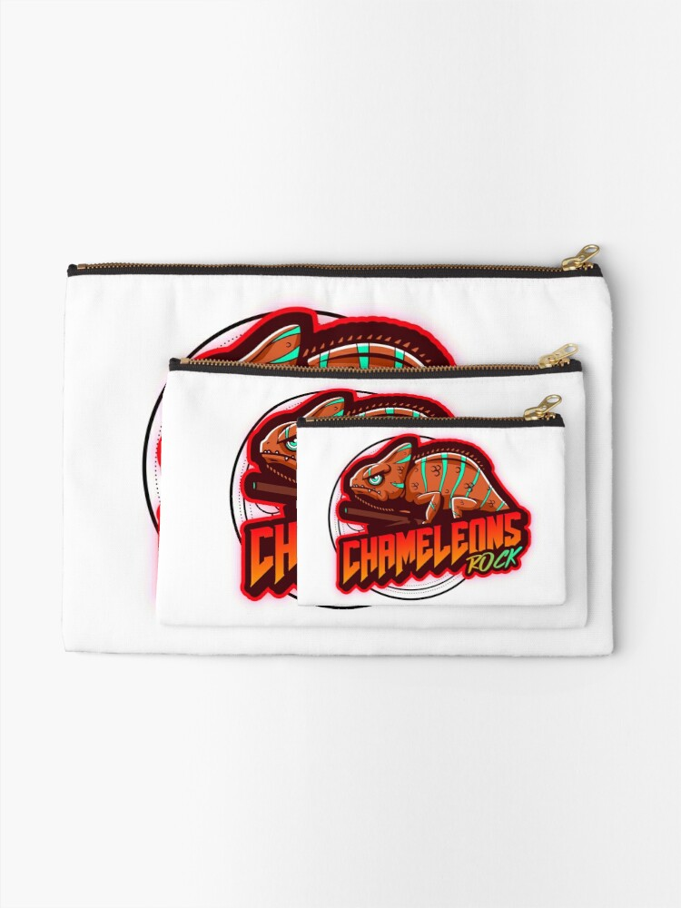 Alternate view of Chameleons Rock Colourful Bright Zipper Pouch