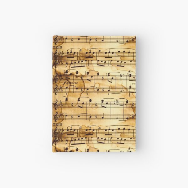 Old Sheet Music Hardcover Journal