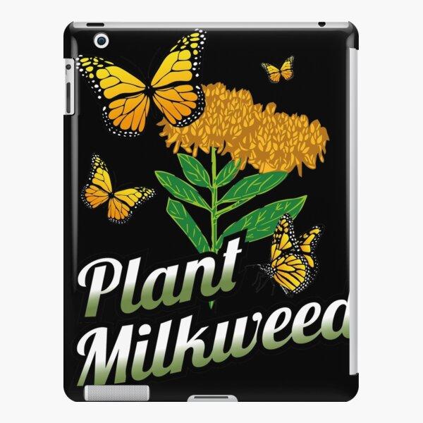 Regalo para los amantes de la mariposa monarca Plant Milkweed Monarch Funda rígida para iPad