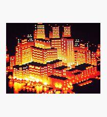 8-bit pixel cityscape Photographic Print