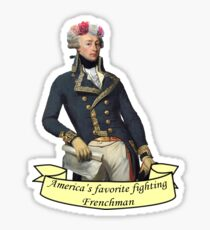 America's Favorite Fighting Frenchman Sticker