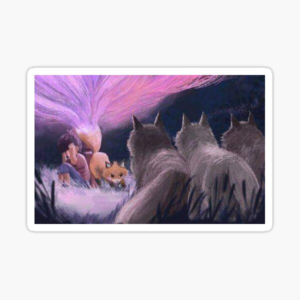 Kitchi: The Spirit Fox - Wolfpack  Sticker