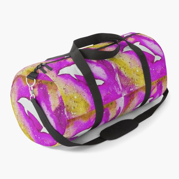 Dolphin in pink Duffle Bag